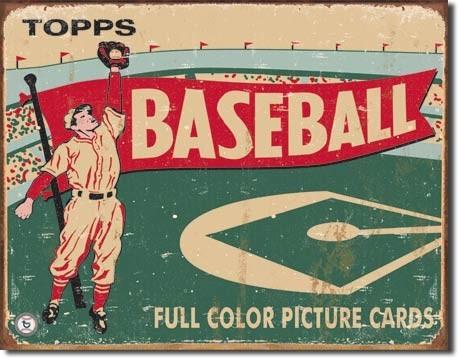 Plechová cedule  TOPPS - 1954 baseball