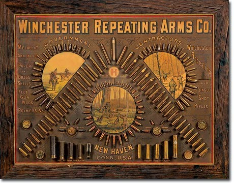 Plechová cedule  Winchester - Repeating Arms