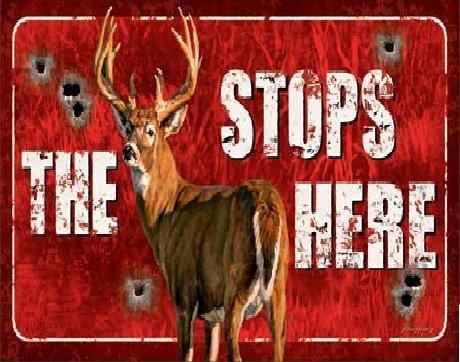 Plechová ceduľa Buck Stops Here