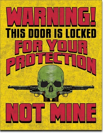 Plechová cedule Door is Locked