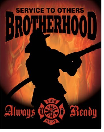 Plechová cedule Firemen - Brotherhood