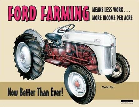 Plechová ceduľa Ford Farming 8N