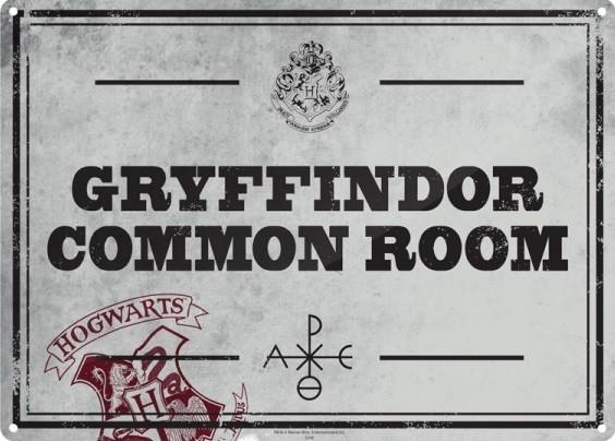 Plechová cedule Harry Potter - Common Room