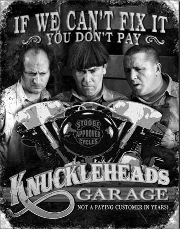 Plechová cedule Stooges - Garage