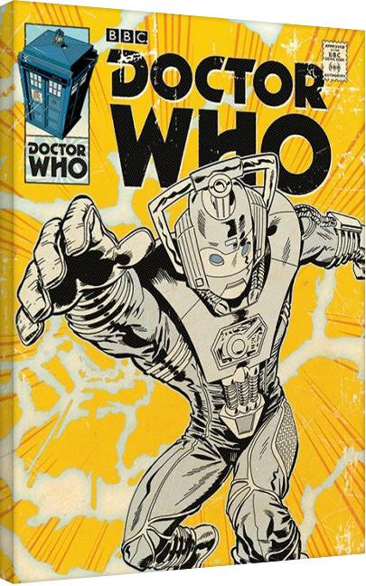 Doctor Who - Cyberman Comic Obraz na płótnie