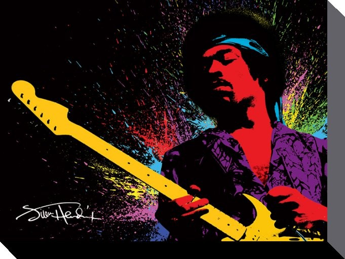 Jimi Hendrix - Paint Obraz na płótnie