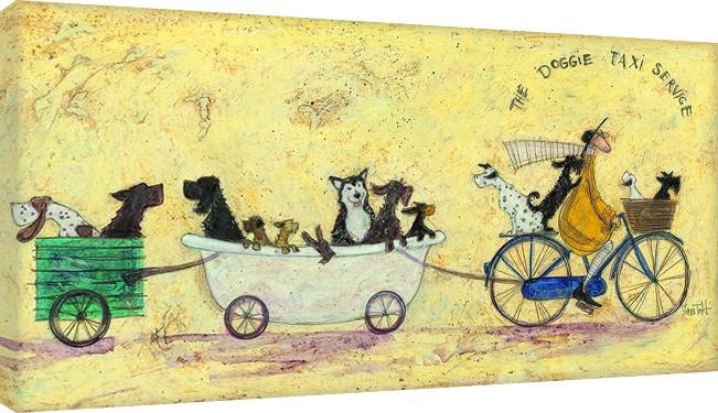 Sam Toft - The doggie taxi service Obraz na płótnie