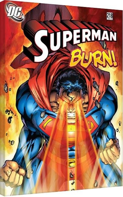Obraz na płótnie DC Comics - Superman - Burn