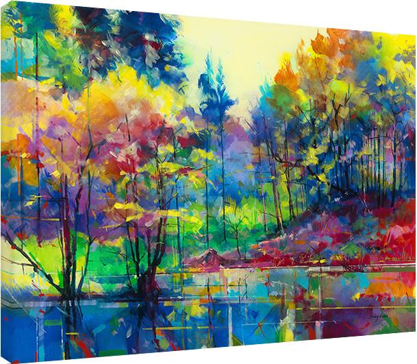 Bardzo dobryFantastyczny Doug Eaton - Meadowcliff Pond Obraz na płótnie | Kup na Posters.pl SP54