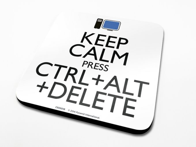 Keep Calm Alt Delete Podloga pod kozarec