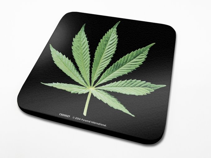 Podtácek Cannabis Leaf