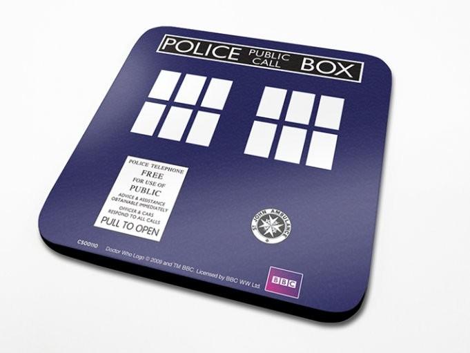 Podtácek Doctor Who - Tardis