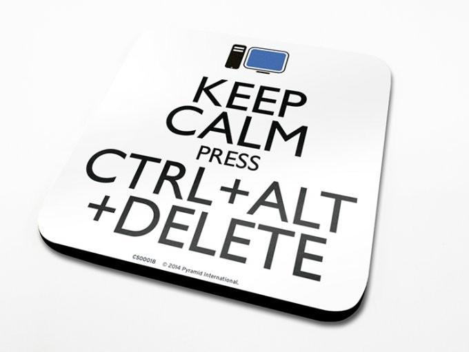 Keep Calm Alt Delete Podtácok