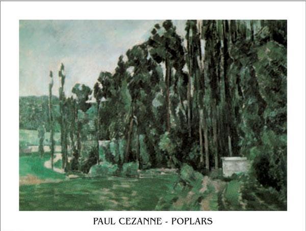 Poplars Reproduction d'art