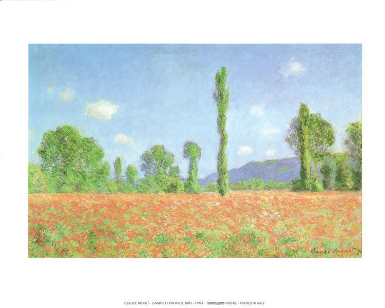 Poppy Field in Giverny, 1890 Festmény reprodukció