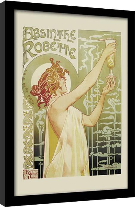 Absint - Absinthe Robette Inramad poster