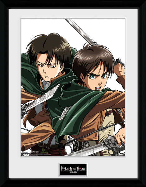 Inramad poster Attack On Titan - Levi
