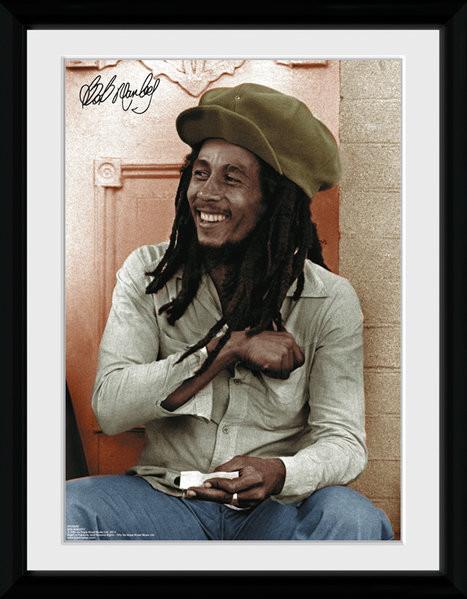 Bob Marley - Rolling Inramad poster