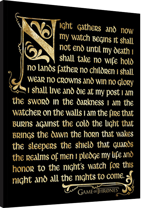 Inramad poster GAME OF THRONES 3 - nightwatch