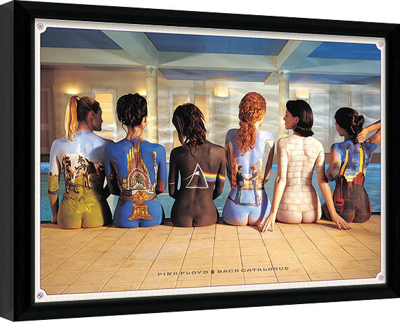 Inramad poster Pink Floyd - Back Catalogue