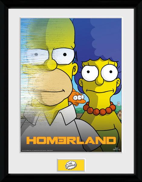 Simpsons - Homerland Inramad poster