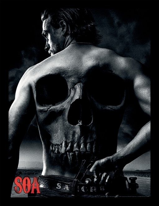 Inramad poster Sons of Anarchy - Jax Back