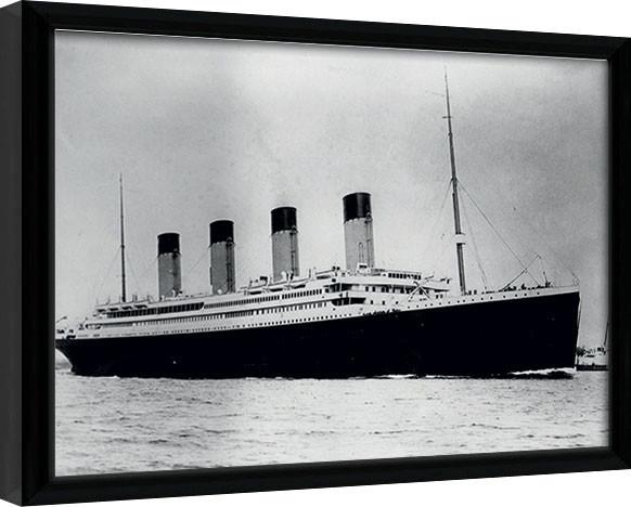 Inramad poster Titanic (2)