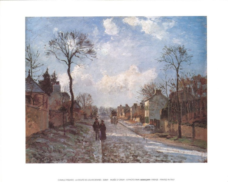 A Road in Louveciennes Kunstdruk