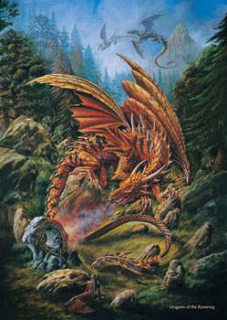Poster Alchemy – dragons