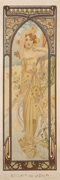 Poster Alfons Mucha - clear day