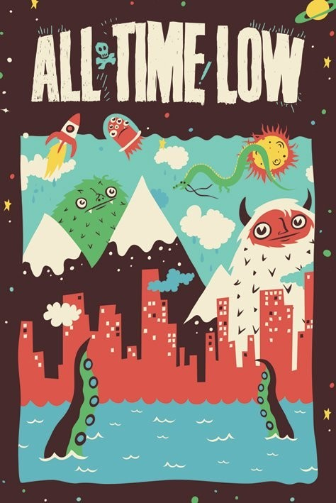 All time low - monsters Poster / Kunst Poster