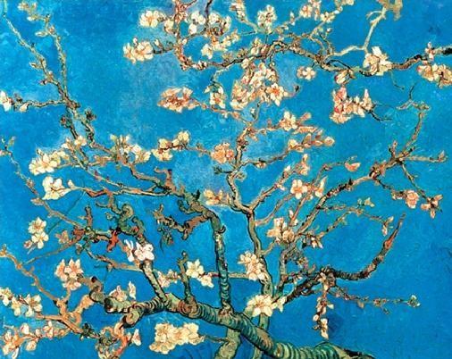 Almond Blossom - The Blossoming Almond Tree, 1890 Kunstdruk