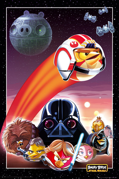 Poster  Angry birds Star Wars - collage