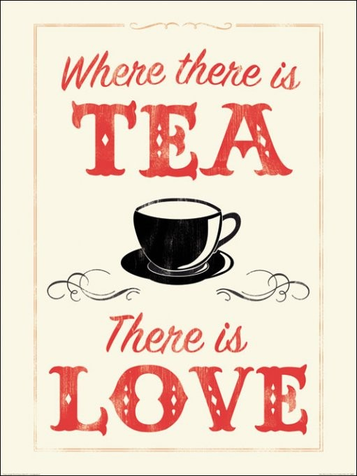 Anthony Peters - Where There is Tea There is Love  Kunstdruk