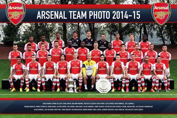 Poster Arsenal FC - Team Photo 14/15