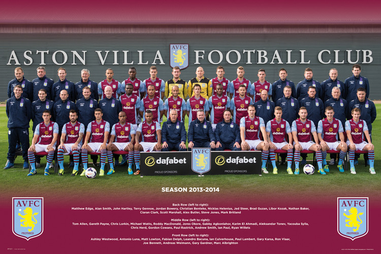 Aston Villa FC - Team Photo 13/14 Poster