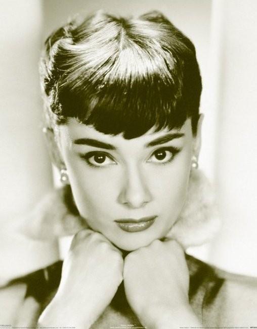 Póster Audrey Hepburn - sepia