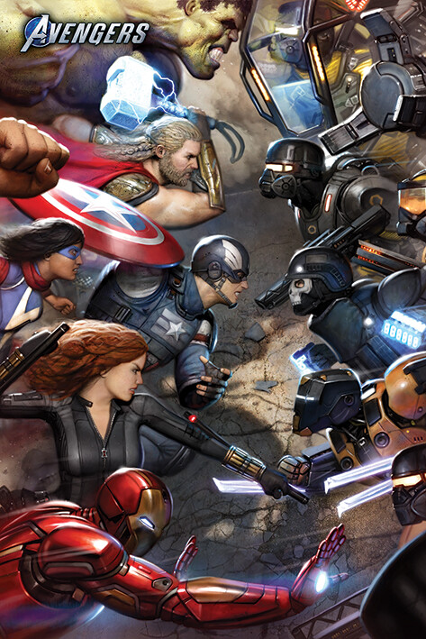 Poster Avengers Gamerverse - Face Off
