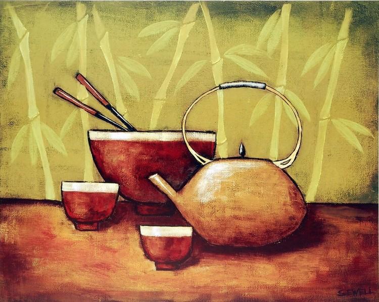 Bamboo Tea Room II Kunstdruk