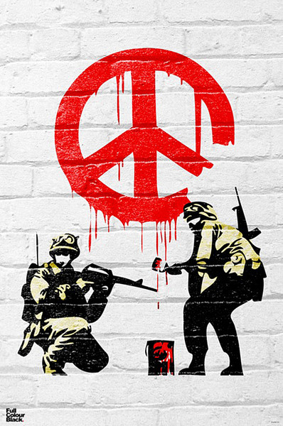 Banksy - Peace soldiers Poster