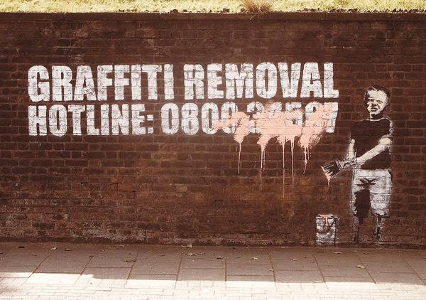 Poster Banksy Street Art - Graffity Removal Hotline