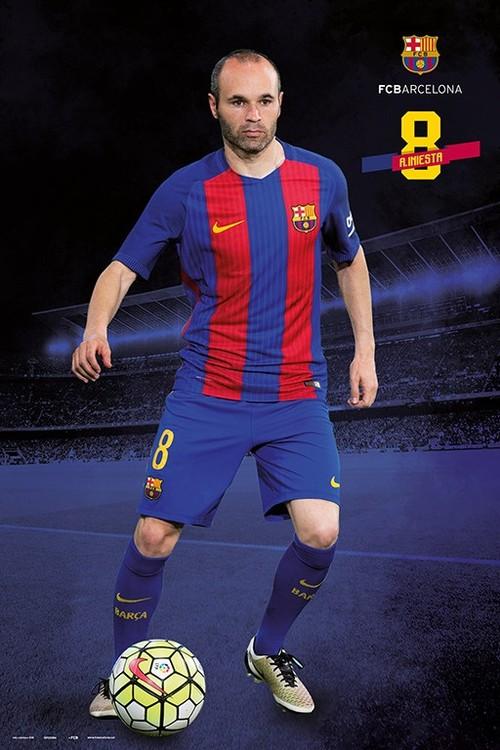 🤩 Barcelona 2016 2017 - Andrés Iniesta Póster a1137e3786b