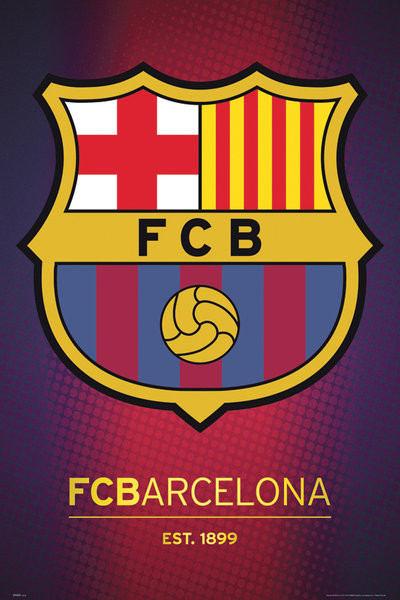 Póster Barcelona - club crest 2013