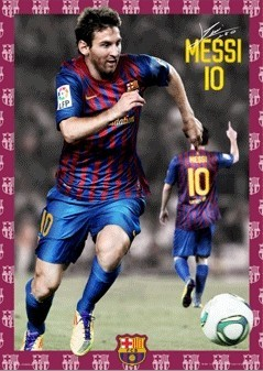 3D Poster  Barcelona - Messi 11/12