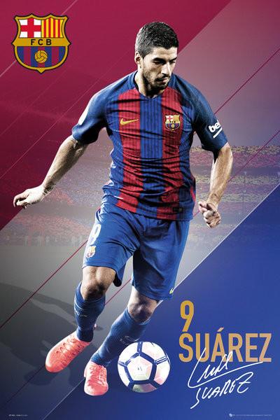 Póster Barcelona - Suarez 16/17