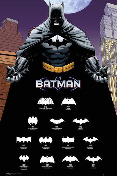poster quadro batman comics logos su. Black Bedroom Furniture Sets. Home Design Ideas