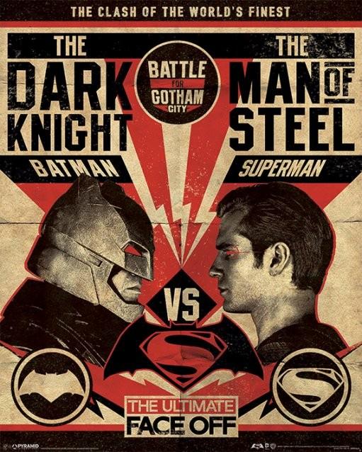 Póster Batman V Superman - Fight Poster