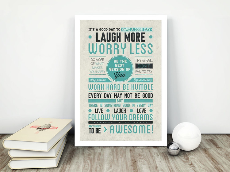 Be awesome Poster