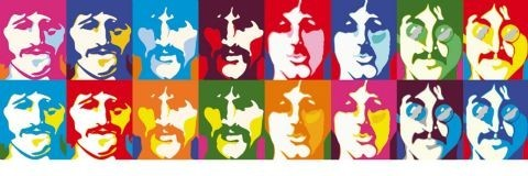 BEATLES - sea of colour Poster / Kunst Poster