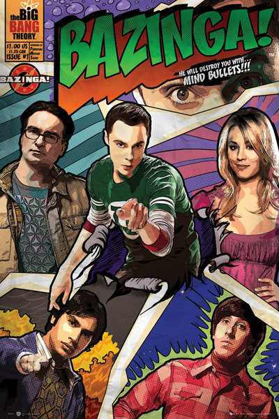 BIG BANG THEORY - comic Poster